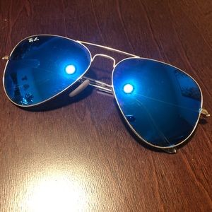 Ray Ban Reflective Blue Sunglasses